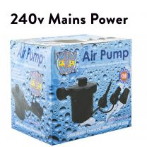 240v mains only air pump inflate/deflate