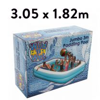 3m x 1.8m Heavy quality jumbo oblong pool (Pools)