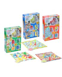 3 Assorted Games Ludo/Goose/Snakes