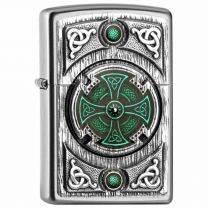 Zippo Celtic Green Cross Lighter (Lighters)