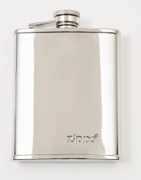 Zippo Stainless Steel Polished Hip Flask 6 oz./177Ml (9.5 X 13 X 2 cm)