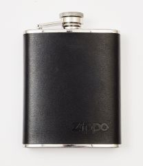 Zippo Mocha Leather Wrapped Hip Flask 6 oz./177Ml (9.5 X 13 X 2 cm)
