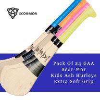Pack Of 24 GAA Scór-Mór Kids Ash Hurleys with Extra Soft Grip