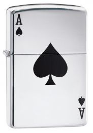 Zippo High Polish Chrome Lucky Ace Lighter