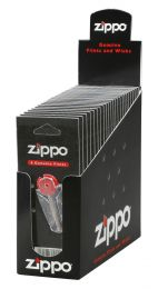 Zippo 24 Flints (Individual Carded) In Counter Display Box Lighter