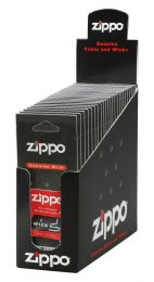 Zippo 24 Wicks (Individual Carded) In Counter Display Box
