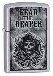 Zippo Satin Chrome™ Sons Of Anarchy™Fear The Reaper Lighter