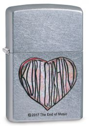 Zippo Street Chrome Kurt Cobain, Heart Lighter
