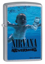 Zippo Street Chrome Nirvana, Nevermind Lighter