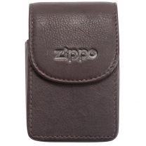 Zippo Brown Leather Cigarette Case (Holds A Standard Pack Of 20 Cigarettes)