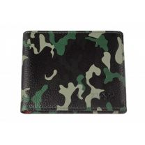 Zippo Green Camouflage Leather Credit Card Wallet (10.8 X 8.6 X 1.8 cm)