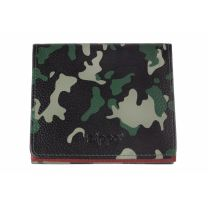 Zippo Green Camouflage Leather Double Sided Wallet(10.2 X 9.3 X 2.5 cm)