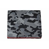 Zippo Grey Camouflage Leather Double Sided Wallet(10.2 X 9.3 X 2.5 cm)