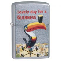 Zippo Guinness Street Chrome Lighter