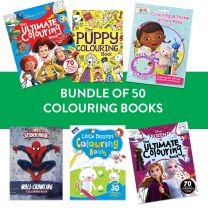 Pack of 50 Assorted Disney Colouring Books
