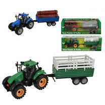 Friction Tractor Toy with Trailer