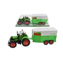 Friction Tractor Toy with Horsebox