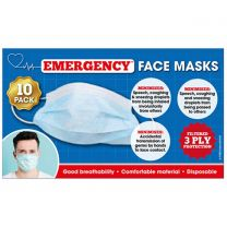 3 Ply Disposable Face Masks Pack of 10