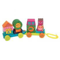 Oops Fun Forest & City Wooden Activity Train