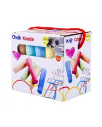 Outdoor Chalk 15pc Assorted Colours