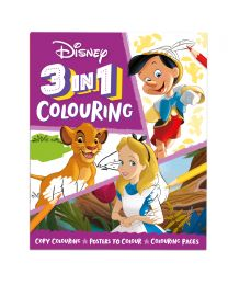 Disney Favourites 3 in 1 Colouring Book