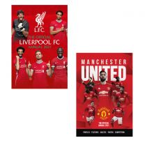 The Official FC Liverpool & Manchester United Annuals 2021 Bundle Hardcover