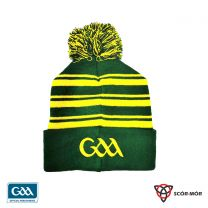GAA Scór-Mór Bobble Beanie Hat Dark Green & Gold (Beanies)