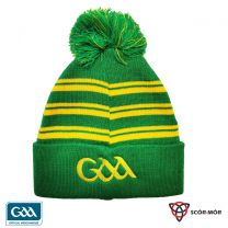 GAA Scór-Mór Bobble Beanie Hat Green & Gold  (Hats & Beanies)