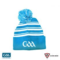 GAA Scór-Mór Bobble Beanie Hat Light Blue  & White (Hats and Beanies)