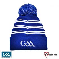 GAA Scór-Mór Bobble Beanie Hat Blue  & White