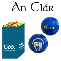 Clare 27 Size 5 Leather Official GAA & Scór Mór Footballs in Dump Bin