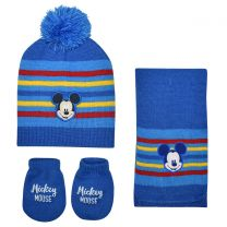 Disney Mickey 3Pcs Baby Set (Hat, Scarf & Gloves)