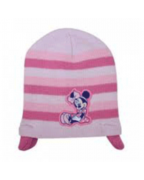 Baby Beanie Pink Minnie Mouse with Ear Warmers