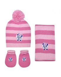 Disney Minnie 3Pcs Baby Set (Hat, Scarf & Gloves)