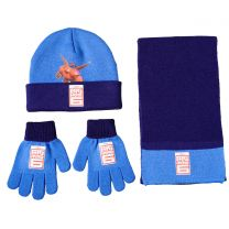 Disney Big Hero 6 3Pcs Set (Hat, Scarf & Gloves) Blue & Red