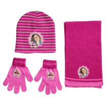 Disney Luna 3 Pcs Set (Hat, Scarf & Gloves) Pink