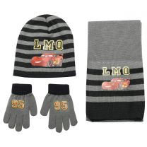 Disney Cars 3 Pcs Set (Hat, Scarf & Gloves) Black & Blue