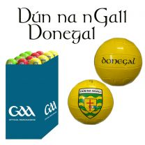 Donegal 27 Size 5 Leather Official GAA & Scór Mór Footballs in Dump Bin