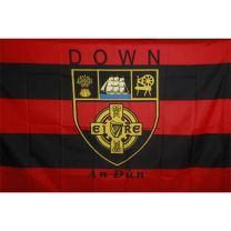 GAA Down Official County Crest Large Flag 5 x 6