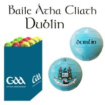 Dublin 27 Size 5 Leather Official GAA & Scór Mór Footballs in Dump Bin