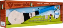 GAA Scór-Mór Ash Hurley With Soft Grip And First Touch Sliotar 20 Blue Hurling Gift Set