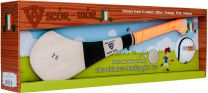 GAA Scór-Mór Ash Hurley With Soft Grip And First Touch Sliotar 20 Orange Hurling Gift Set