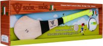 GAA Scór-Mór Ash Hurley With Soft Grip And First Touch Sliotar 20 Yellow Hurling Gift Set