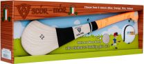 GAA Scór-Mór Ash Hurley With Soft Grip And First Touch Sliotar 22 Orange Hurling Gift Set