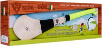 GAA Scór-Mór Ash Hurley With Soft Grip And First Touch Sliotar 22 Yellow Hurling Gift Set
