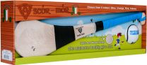 GAA Scór-Mór Ash Hurley With Soft Grip And First Touch Sliotar 24 Blue Hurling Gift Set