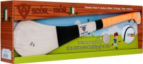 GAA Scór-Mór Ash Hurley With Soft Grip And First Touch Sliotar 24 Orange Hurling Gift Set