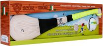GAA Scór-Mór Ash Hurley With Soft Grip And First Touch Sliotar 24 Yellow Hurling Gift Set