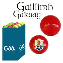 Galway 27 Size 5 Leather Official GAA & Scór Mór Footballs in Dump Bin