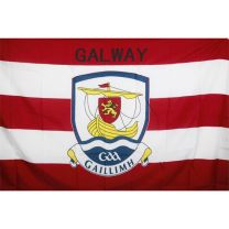 GAA Galway Official County Crest Large Flag 5 x 8